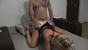 Hubby Calls His Cheating Amateur Wife Russian While I Fuck Her