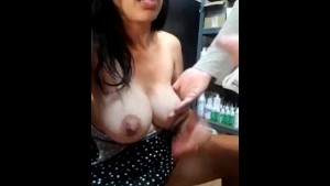 Horny Busty Glasses Babe Sucks Coworker Amateur Homemade Porn