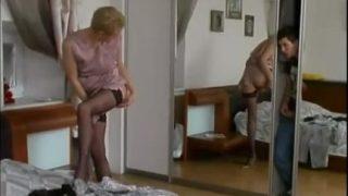 Stepson Caught Spying Russian Hot Mom Fucked Voyeur