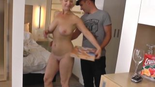 Delicious Blonde Mature Amateur Sex With Delivery Guy