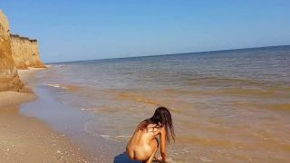 Asian Teen Tiny Ass Creampied On Public Beach Part2