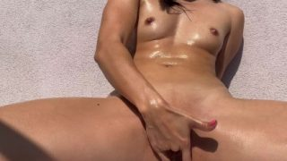 Real Porn Babe Fingering On Balcony Home Porn Part2
