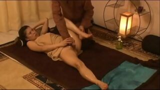 Japanese Oil Massage Thai To Beauty Girl Gets Hairy Pussy Creampied